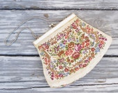 Vintage Petit Point Purse / Formal Purse / Boho Purse / Bridesmaids Gift - AlegriaCollection