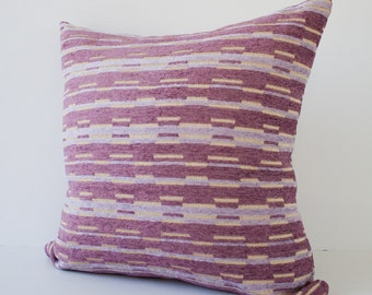 Purple stripes decorative throw pillow cover / accent pillow / pillowcase / cushion cover - 18 x18 inches