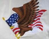 "Embroidered ""Flying Eagle & American Flag"" Hoodie Sweatshirt"