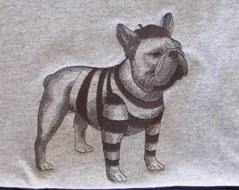 "Embroidered ""French Bulldog Sketch"" Tshirt"