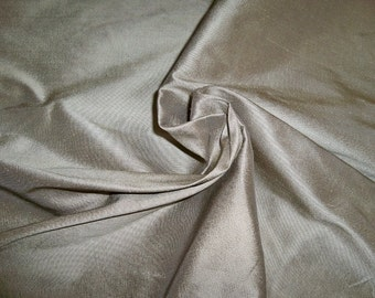 SILK LOOM Inc. STERLING 3 Ply Silk Faille Fabric 10 Yards