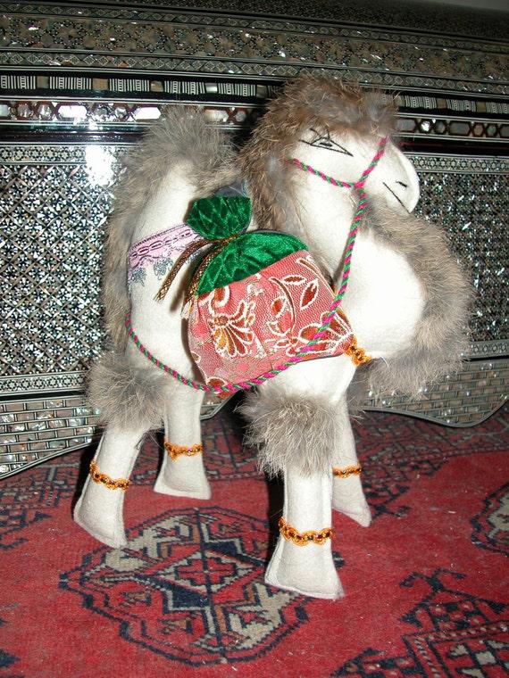 Camel toy, Decorative Camel, Camel totem-saffron,