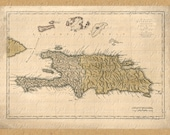 Map Of  Haiti And Dominican Republic From The 1700s 199 Map Islands Topical Tropics Beach Paradise Travel Caribbean