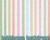 "Pastel Linen Stripes - 60"" x 60""  - Vinyl Photography  Backdrop Photo Prop"