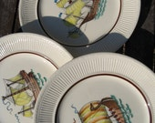 Vintage Swedish Nautical Ship Plates - Rorstrand Diana