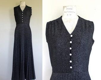 """Vintage Black """"Butte Knit"""" Maxi Dress"""