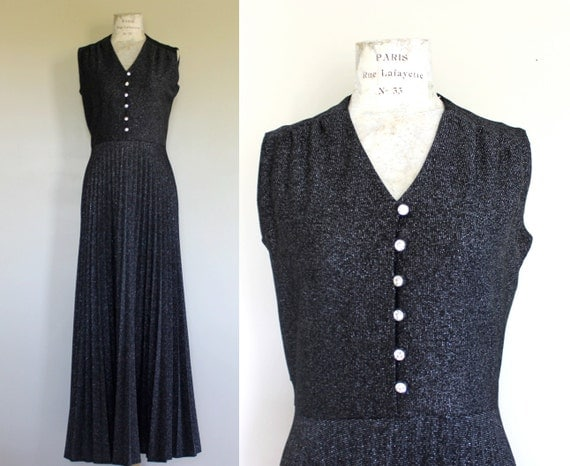 "Vintage Black ""Butte Knit"" Maxi Dress"