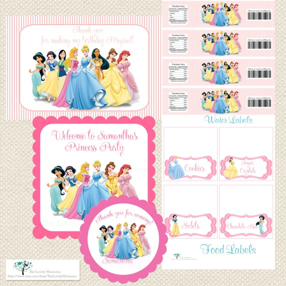 Items Similar To Disney Princess Inspired Personalized