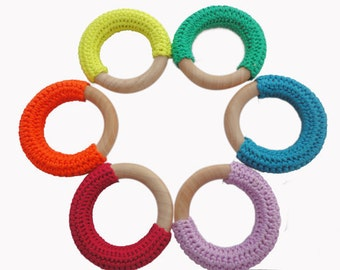 INSTANT DOWNLOAD Crochet covered wooden teething ring PATTERN