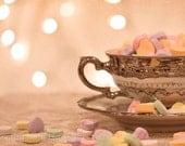 Valentine's Themed Conversation Heart Teacup 7x5 Fine Art Photographic Print