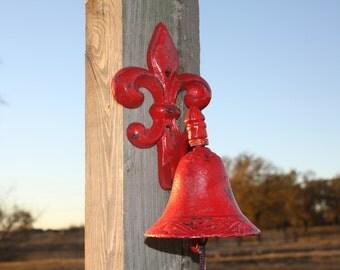 FLEUR DE LIS Bell / Cast Iron / Dinner Bell