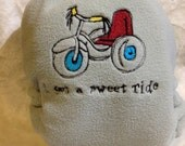 Sweet Ride Embroidered Grey Fleece Pocket Diaper