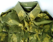 Vintage Military jacket, Uniforms, Made in USSR 1990s, 90s, from Central Asia, Camouflage Coat, Khaki, Soviet army uniforms
