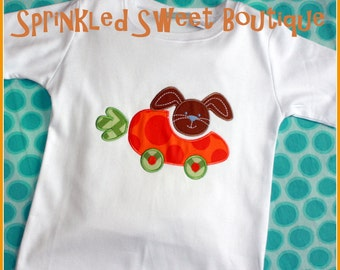 Carrot Car Bunny Easter Boys or Girls Applique Shirt