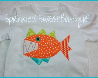 Wacky Fish Custom Applique Shirt