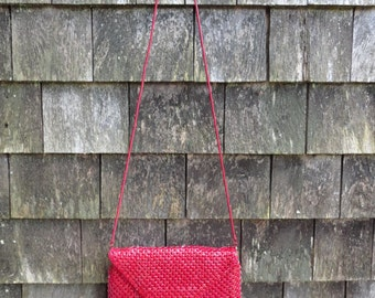 Vintage Jazzie Red Mesh Purse or Bag by Regale Mesh by La Regale Great Gatsby Night Out