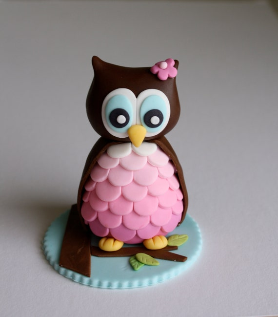 How To Make A D Fondant Owl Cake Topper