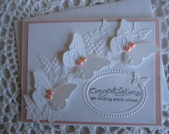 Handmade Greeting Card: Wedding/Engagement Congratulations