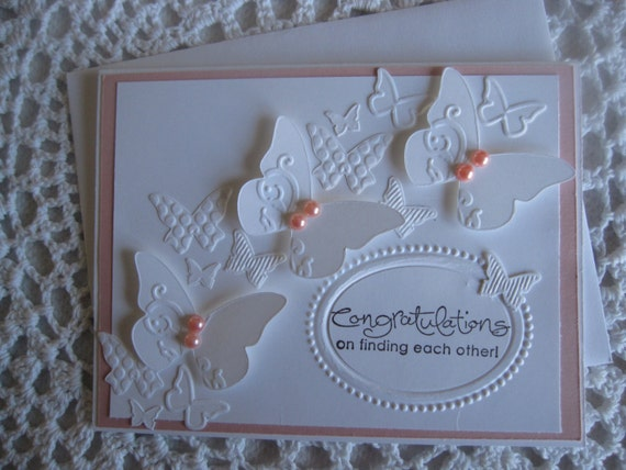 Items similar to Handmade Greeting Card: Wedding ...