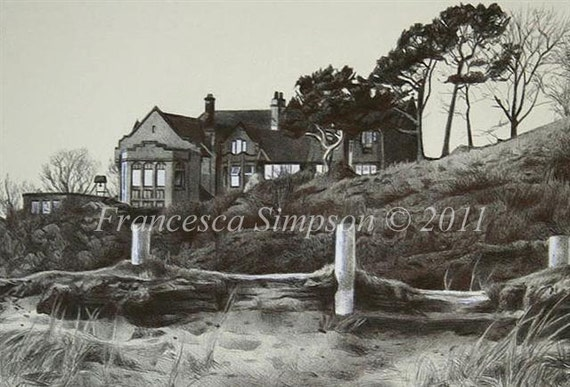 The Alnmouth Friary- Mounted Limited Edition Print