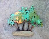 Landscape copper bonsai sunset  -  Commission
