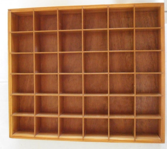 Vintage Wood Shadow Box Knick Knack Shelf Curio Display Wall