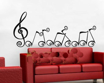 130x55cm Removable Music Note Nature Vinyl Wall Paper Decal Art Sticker Q859