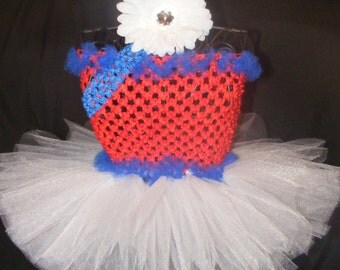 Patriotic, 4th of july, red white and blue tutu - Baby -  sizes newborn - 4T 4th of July Tutu dress