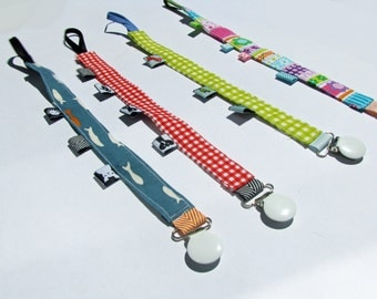 Fabric Pacifier Clip with taggies - price sale