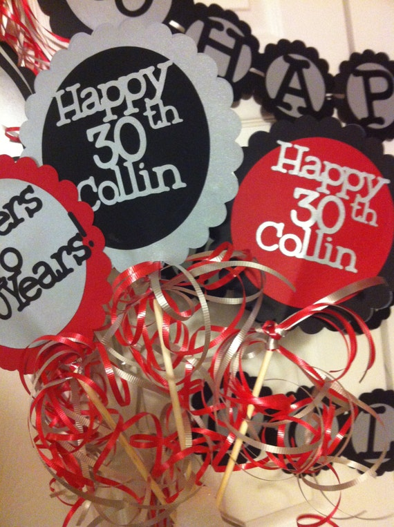 30th birthday decorations centerpiece signs with personalized for 30th birthday decoration ideas
