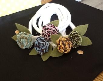 Calico rosette infant/baby headbands