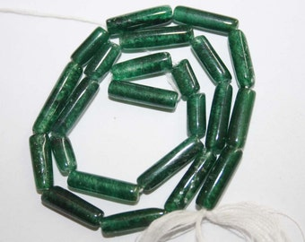 2 X Natural AAA Quality Green Aventurian 5X9 to 5X14mm Smooth Tube Gemstone Beads 13 Inches TB003