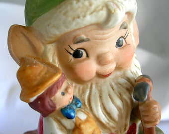 Santas Elf Figurine - Hallmark HOMCO - Vintage 1960-1970