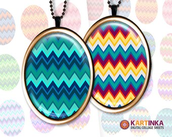 30x40mm, 18x25mm & 13x18mm size Images Digital Collage Sheet CHEVRONS PATTERNS Printable download for Earrings Rings glass resin pendants