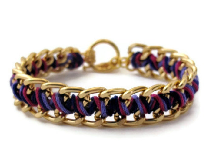 Midnight Purple Zig Zag Bracelet
