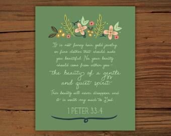 1 Peter 3:3-4 Print