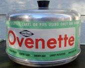 Vintage West Bend Ovenette for stove top baking and roasting, camping, aluminum, three piece, bakelite knob, 1950's