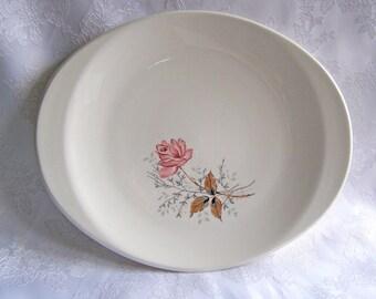 Vintage Canonsburg Pottery Company Serving Platter Royal Rose Serving Platter