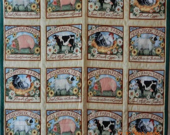 Hand-Made Hog Heaven Quilt - Price Reduced