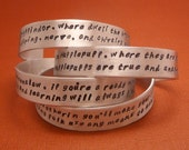 CHOOSE ONE - Sorting Hat Song - A Hand Stamped Aluminum Bracelet