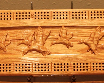 Outdoor Duck Scene Made From Solid Oak