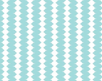 Madhuri Stripes in Blue: The Quilted Fish for Riley Blake 1/2 Yard Cut