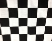 "44"" X 90"" Rectangle Nascar Checkered Flag Table cloth Only"