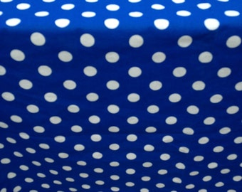 "Circus 44"" X 90"" Rectangle Party Royal Blue with With White Polka Dots Table Cloth Only"