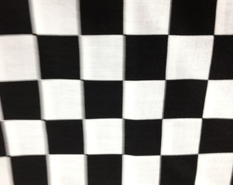 "44"" X 108"" Rectangle Nascar Checkered Flag Tablecloth Only. This fit a 8' foot long table."