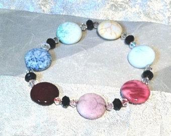 Cloisonne & Crackle Agate Bracelets