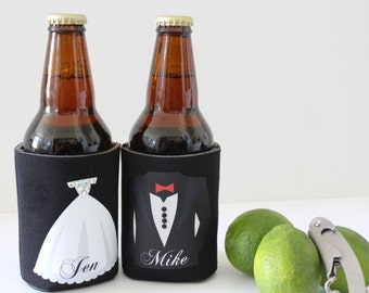 Personalized beer cooler, Wedding Party gift, Personalized Groomsman Gifts, Best Man Gift, Father of the Bride,Wedding Favor Mr and Mrs Gift