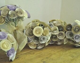 Paper Flower Bridal Bouquet, Paper flower Bouquets, alternative bouquet, Wedding Flowers