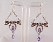 Vintage Look Tanzanite Sterling Silver Chandelier Earrings