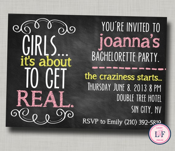 Items similar to Bachelorette party invitation printable ...